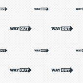 Way out right sign icon. Arrow symbol. — Stock Vector