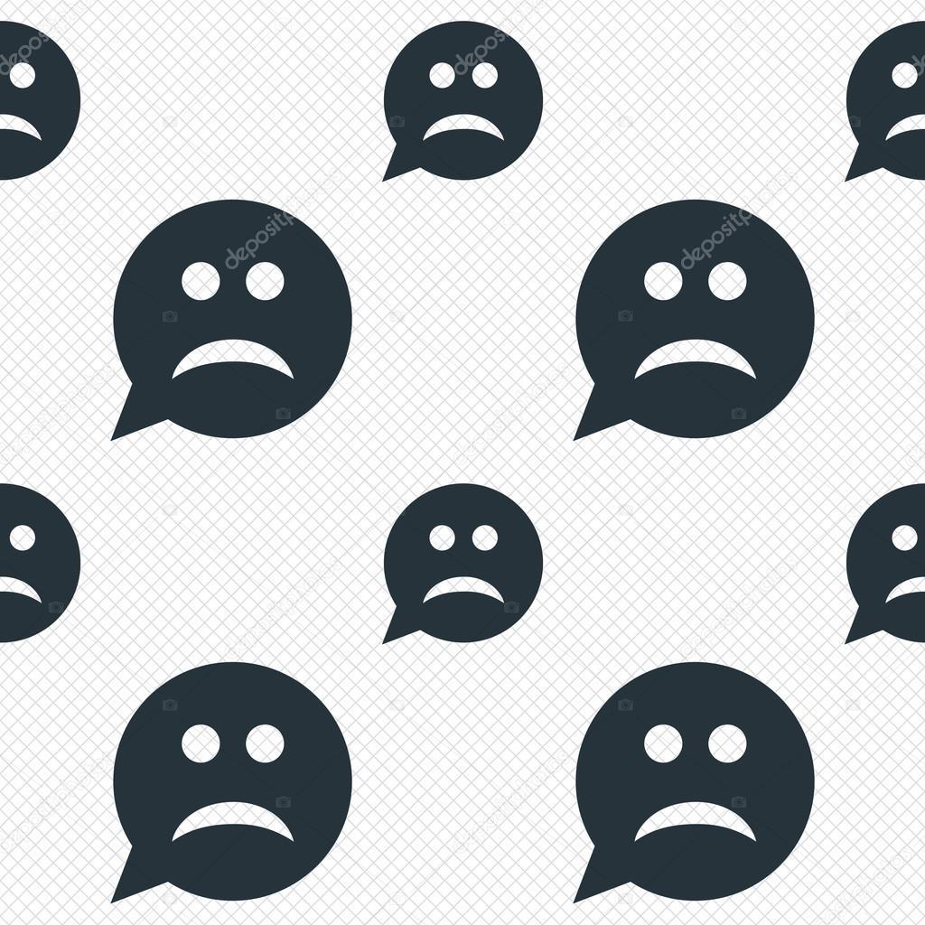 Icono de signo de cara triste. símbolo de la tristeza \u2014 Archivo Imágenes  Vectoriales
