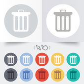 Recycle bin sign icon. Bin symbol. — Stockvektor