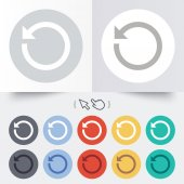 Repeat icon. Refresh symbol. Loop sign. — Stock Vector