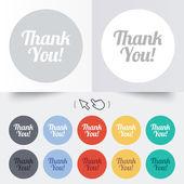 Thank you sign icon. Customer service symbol. — Vector de stock