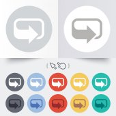 Rotation icon. Repeat symbol. Refresh sign. — Stock Vector