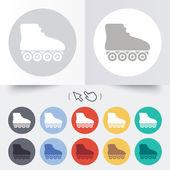 Roller skates sign icon. Rollerblades symbol. — Stockvector