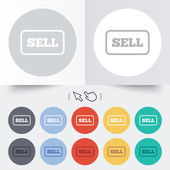Sell sign icon. Contributor button. — Vettoriale Stock