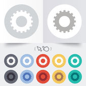Cog settings sign icon. Cogwheel gear symbol. — Stockvektor