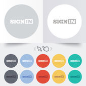 Sign in icon. Join symbol. — Vetorial Stock