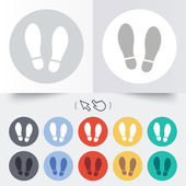 Imprint shoes sign icon. Shoe print symbol — Stock Vector