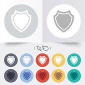Icona del segno di scudo. simbolo di protezione. — Vettoriale Stock