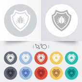 Shield sign icon. Virus protection symbol. — Vetorial Stock