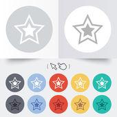 Star sign icon. Favorite button. Navigation — Stockvector