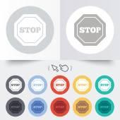 Traffic stop sign icon. Caution symbol. — Stok Vektör