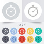 Timer sign icon. Stopwatch symbol. — Vettoriale Stock