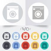Washing machine icon. Home appliances symbol. — Stock Vector