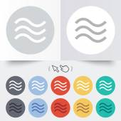 Water waves sign icon. Flood symbol. — Stock Vector