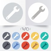 Wrench key sign icon. Service tool symbol. — Stockvektor