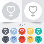 Female sign icon. Woman sex button. — Stockvektor