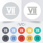 Roman numeral seven icon. Roman number seven sign. — Stock Vector