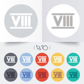 Roman numeral eight icon. Roman number eight sign. — Vector de stock
