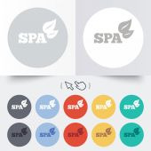 Spa sign icon. Spa leaves symbol. — Stockvector
