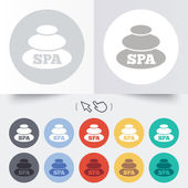 Spa sign icon. Spa stones symbol. — Stockvector