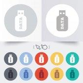 Usb Stick sign icon. Usb flash drive button. — Vetorial Stock