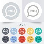 よくある質問情報記号アイコン。シンボルをヘルプします。. — ストックベクタ