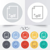 File GIF sign icon. Download image file. — Stock Vector
