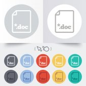 File document icon. Download doc button. — Vector de stock