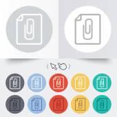 File annex icon. Paper clip symbol. — Stock Vector