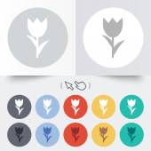 Flower sign icon. Rose symbol. — Stockvector