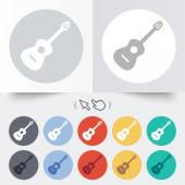 Acoustic guitar sign icon. Music symbol. — Vector de stock