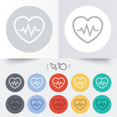 Heartbeat sign icon. Cardiogram symbol. — ストックベクタ