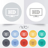 HD widescreen tv. High-definition symbol. — Stock Vector