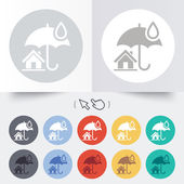Home insurance sign icon. Real estate insurance. — Vecteur