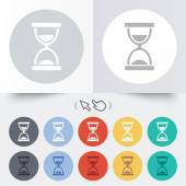 Hourglass sign icon. Sand timer symbol. — Wektor stockowy