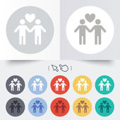 Couple sign icon. Male love male. Gays. — Stock Vector