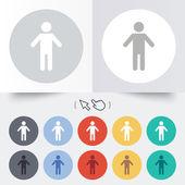Human male sign icon. Person symbol. — Stock Vector