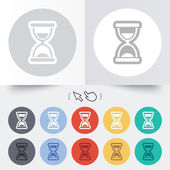 Hourglass sign icon. Sand timer symbol. — Vettoriale Stock