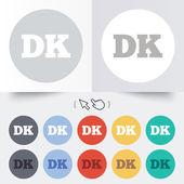 Denmark language sign icon. DK translation. — Stock Vector