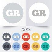 Greek language sign icon. GR Greece translation — Stock Vector