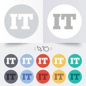 Italian language sign icon. IT Italy translation — Stock Vector
