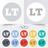 Lithuanian language sign icon. LT translation — Stock Vector