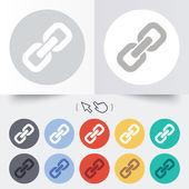 Link sign icon. Hyperlink symbol. — Stock Vector