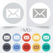 Mail icon. Envelope symbol. Message sign. — Vector de stock