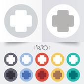 Medical cross sign icon. Diagnostics symbol. — Stock Vector