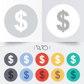 Dollar sign icon. USD currency symbol. — Vector de stock