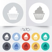 Muffin sign icon. Cupcake symbol. — Wektor stockowy