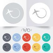 Airplane sign icon. Travel trip symbol. — Vector de stock