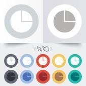 Pie chart graph sign icon. Diagram button. — Stock Vector
