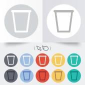 Recycle bin знак значок. символ корзины. — Cтоковый вектор